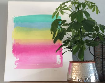 Screen printed canvas