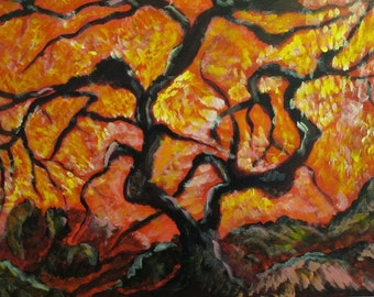"Art//Greeting Card//Nature//Abstract//Any Occasion Card//""The Wicked Tree"""