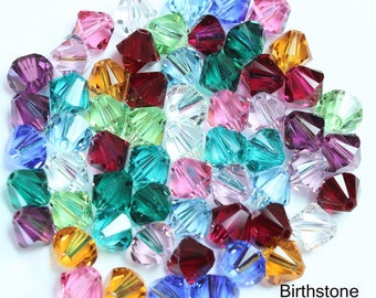 67997f9aa U PICK 60 Swarovski Crystal 6mm Bicone Mixes Genuine Authentic 5301/5328  Lot Assorted Mix of Colors Faceted Bicone Crystals