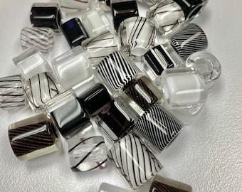 Fine Lines ~ Furnace Art Glass Beads 12 oz.