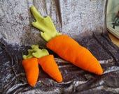 Carrot Plush Prop, Fursuit Prop, Plushie, Carrots, Ready To Ship