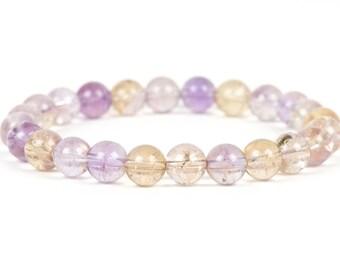 Ametrine Bracelet, Healing Bracelet, Genuine Ametrine Bracelet, Gemstone Bracelet, Gemstone Bracelet, Handmade Jewelry, Gemstone Jewelry