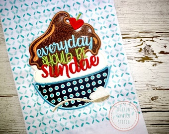 Everyday Should Be Sundae Kitchen Towel