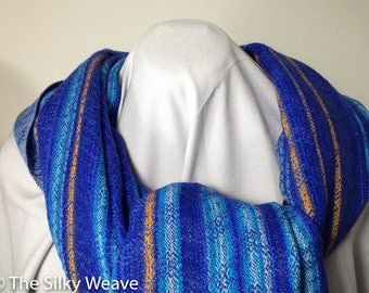 Handwoven shawl, gift ideas, hand-woven scarf,  hand-woven stole, oversize shaw, wedding gift, tri-blend, silk, alpaca, cotton