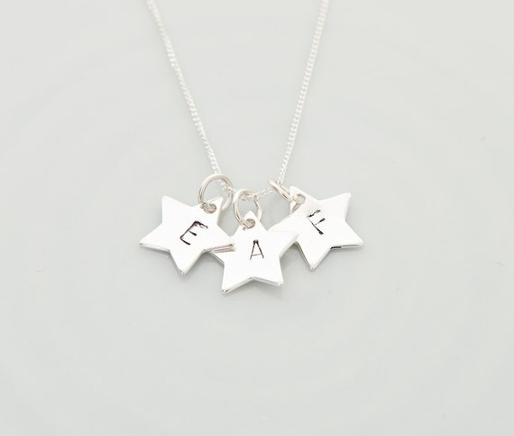 Necklace for mum Silver Star necklace Personalised Star necklace Celestial necklace Initial Necklace Christmas gift idea