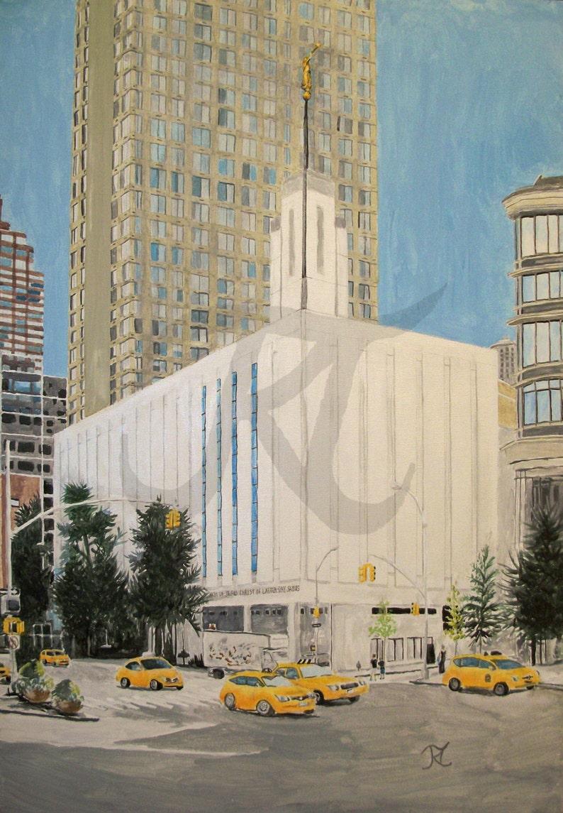 Manhattan New York Lds Temple Limited Edition Digital Etsy