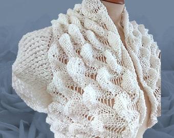 Bridal Ruffle Cardigan Hand Knitted
