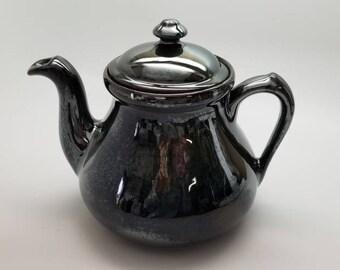 Shiny Chrome Teapot Ready to Ship