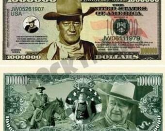 THe DUKE JOHN WAYNE Million Dollar Bill Western tribute  novelty bill