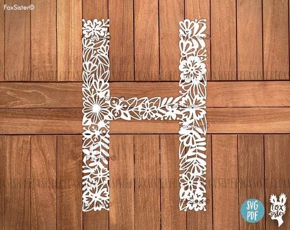 Letter H Svg | Alphabet Svg| Letters Svg | Letter Cut File | Initials Svg |  H | Name Svg | Paper Cut Out | for Cricut, Cameo | Home Decor