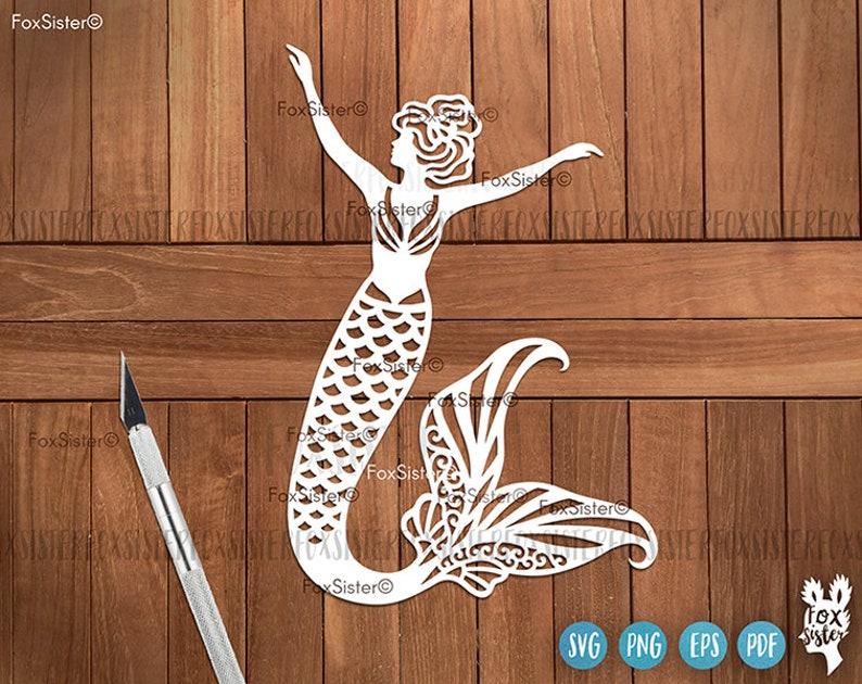 Little Mermaid Tail Svg Cutting File Ocean Cute Silhouette Cut File Vector Clipart Sea Mermaids SVG File for Cricut Mermaid SVG Bundle