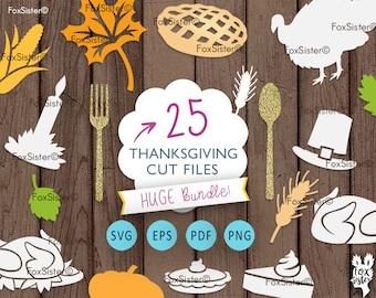 Thanksgiving SVG Bundle, Thanksgiving Clip art, Fall svg, Leaf, Pie,Turkey, Pilgrims Hat svg   Halloween svg   Pumpkin svg   Cricut Cameo