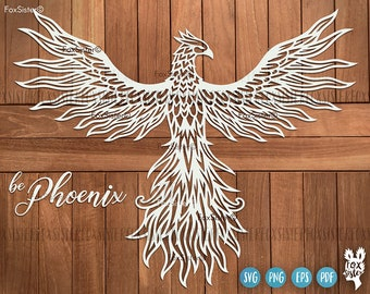 Phoenix svg for Cricut and Silhouette, Bird Svg, FoxSister, phoenix wings svg, phoenix rising svg, bird svg files, svg cut file, Animal Svg