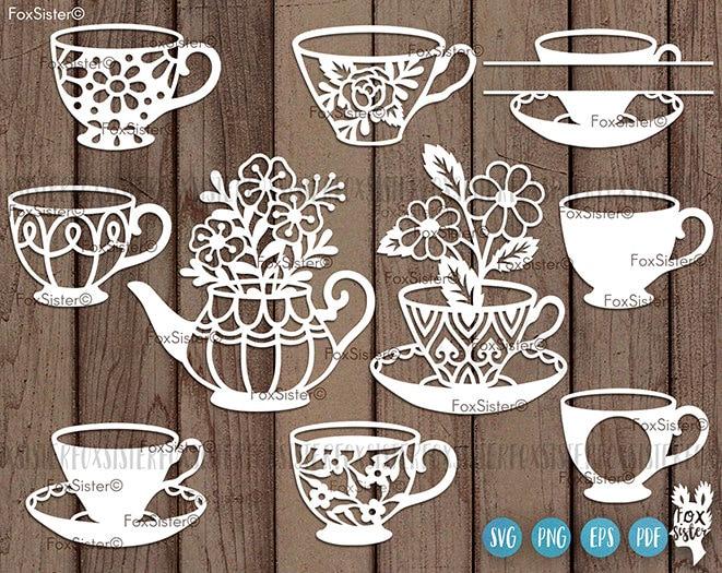 Download Coffee Tea Svg Cup Svg Bundle Tea Pot Clipart Cut Files | Etsy
