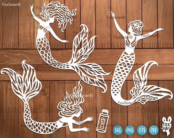 Mermaid Svg Bundle Mermaids Svg File For Cricut Little Etsy