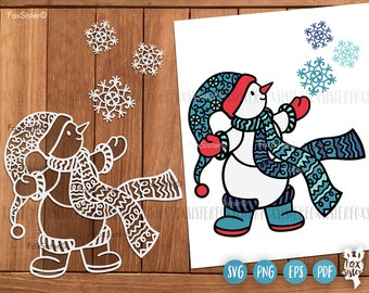 Snowman svg for Cricut and Silhouette, snowman clipart, sublimation design, holiday svg, merry christmas svg, snowman png, cute snowman svg