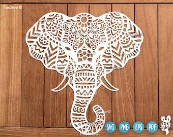 Elephant svg   Elephants svg   Animal Svg, Mandala Svg,Boho svg   Africa svg   Elephant clipart   Elephant Cut file   for Cricut, Silhouette
