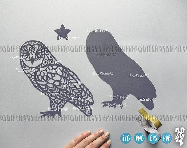 Owl Svg Cut file design Mandala Owl Svg Clip Art Sitting ...