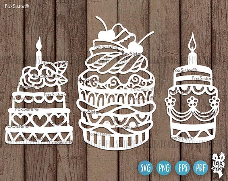 Birthday Cake Svg Bundle Cake Svg Birthday Cake Cut File Etsy