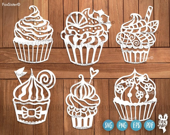 Cupcake SVG, Cake Svg Cutting Files, Svg Bundle