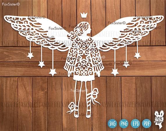 Angel Svg Cut Files Christmas Angel Svg Angels Svg Wings Etsy