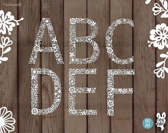 Svg Alphabet Bundle 26 Letters Svg Letter Svg Alphabet Svg Etsy