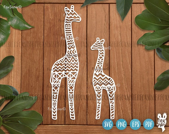 Giraffe Svg Vector Designs Mama Giraffe Svg Baby Animal Svg Etsy