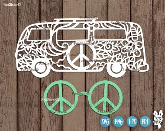 hippie van svg van svg peace svg car svg camper svg