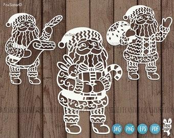 Santa Svg, Santa Svg Clipart, Santa Cricut Cut File, Santa Claus Svg, Christmas Svg, Christmas gifts Svg, FoxSister, Cricut and Silhouette