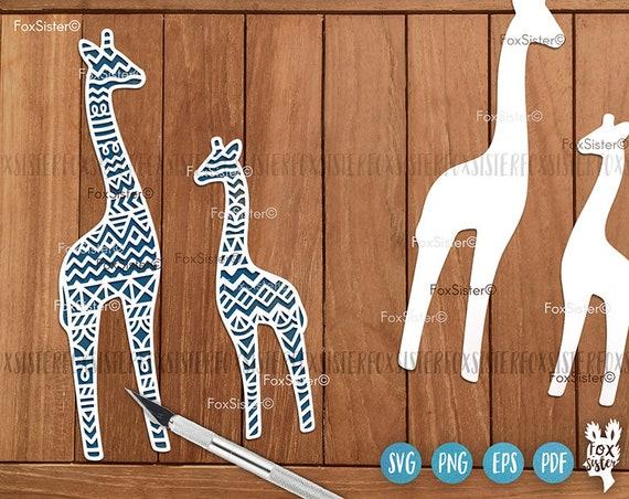 Giraffe Svg Vector Designs Mama Giraffe Svg Baby Animal Svg Etsy