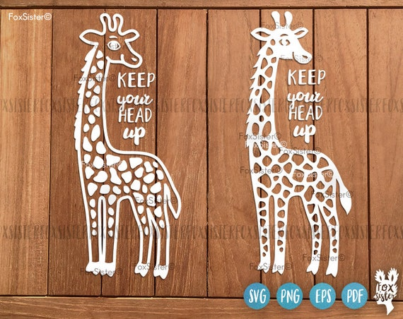 Happy Giraffe Svg Papercut Template Giraffe Cut File Funny Etsy