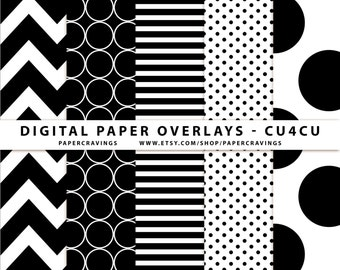 Digital Paper Overlay - Paper Template - Chevron Polka Dot Stripe Jumbo Dot CU4CU Commercial Use No Credit Basic Pattern Photoshop PSD png