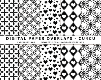 Seamless repeating pattern template Digital Paper Overlaym geometric heart floral CU4CU Commercial Use No Credit Pattern Photoshop PSD png