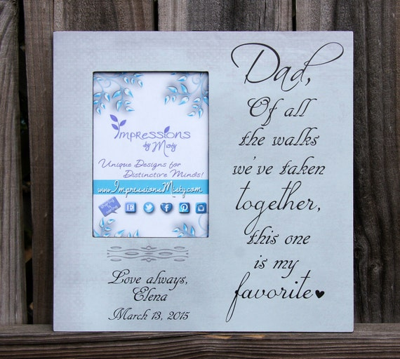 Father of the Bride gift Father Daughter Wedding Frame