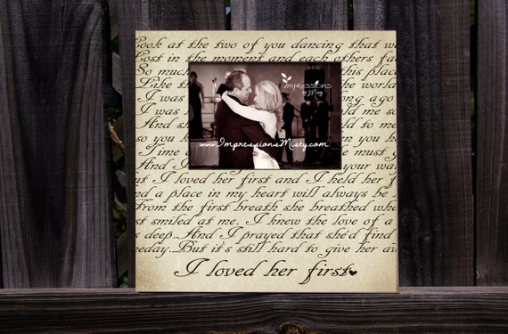 ANY Song Lyrics Picture Frame Personalized Gift Custom | Etsy