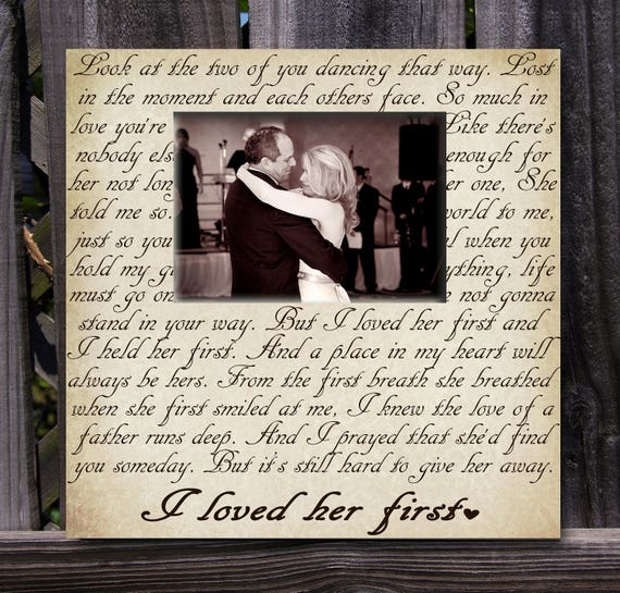Father of the Bride Picture Frame, Gift for Dad, Wedding gift ...