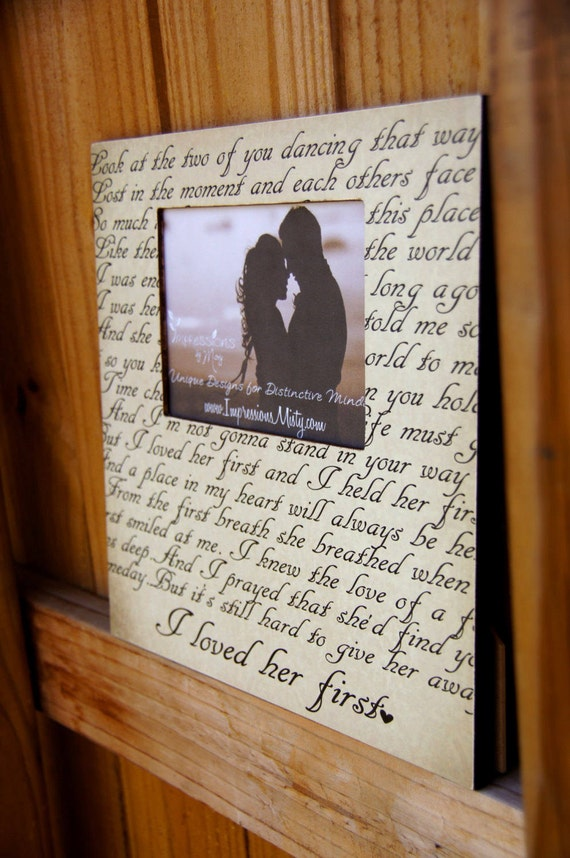 Any Song Lyrics Picture Frame Personalized Gift Custom Etsy