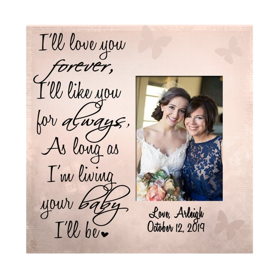 mother of bride frame canvas CAN-309 personalized parent of bride frame mother-in-law gift picture frame Wedding gift today a bride