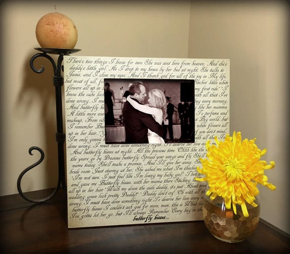 Sale Best Wedding Gift Custom Picture Frame Song Lyrics Etsy