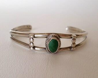 8 inch 20 cm Cuff Bracelet, Turquoise w Sterling Silver Wire Cuff, December Birthstone, Boho Southwestern Country Western Wear, ID 575303517