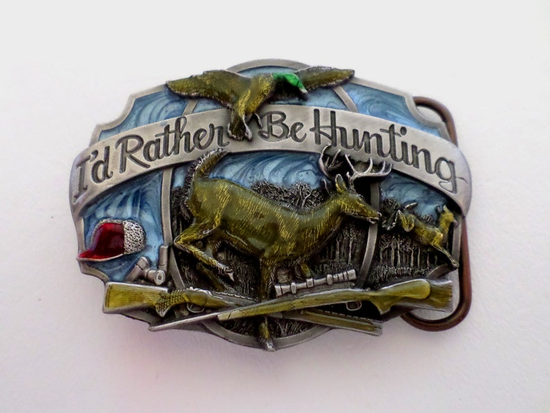 Boho Southwestern Country Western Wear ID 687459682 Western Belt Buckle for 1 34 inch 45mm wide Belt Siskiyou Deer I/'d Rather Be Hunting