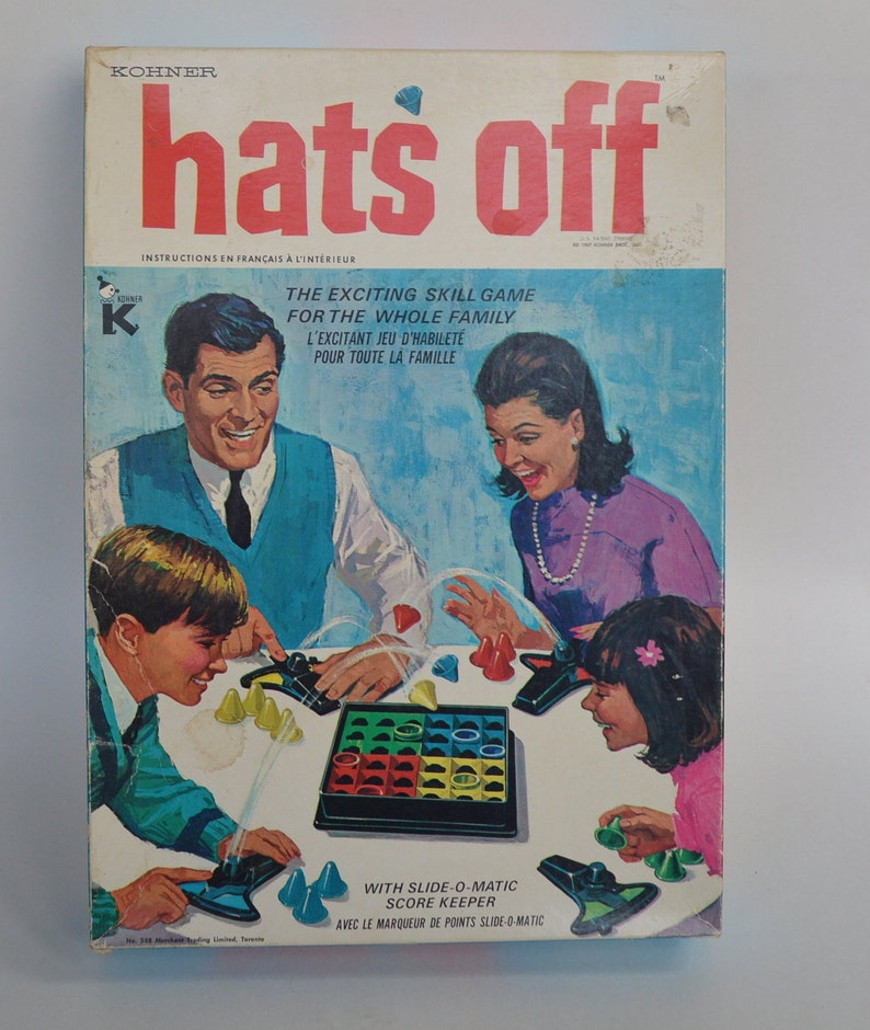 Hats Off Vintage Board Game  e066041e2ca