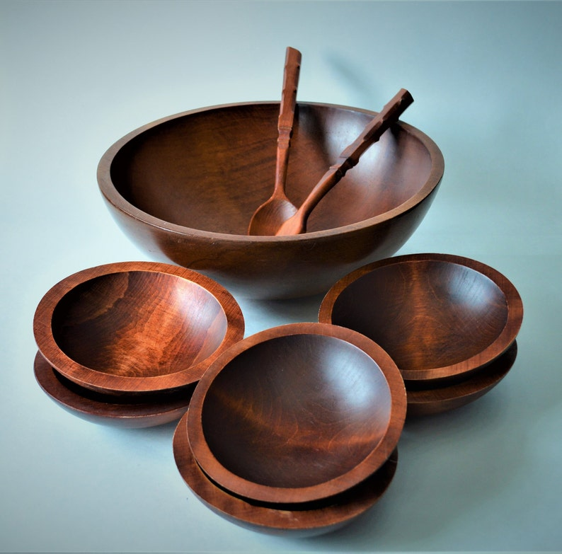 Bowls Decorative Collectibles Responsible Small Vintage Baribocraft Wooden Bowl