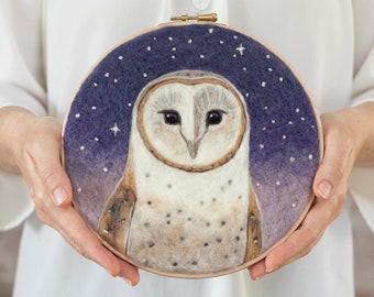 Barn Owl Needle Felting Kit - Intermediate Craft Kit - Dani Ives' Painting with Wool - video instructions