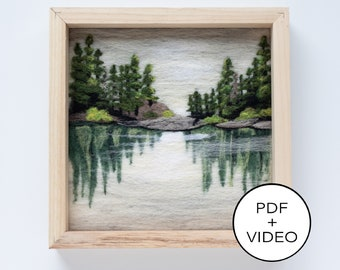 Lake Reflections Needle Felting Tutorial - PDF Pattern - Instant Download - Includes Video Instructions - Advanced Beginner or Intermediate