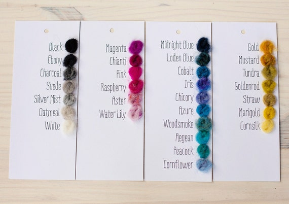 Color Chart For Harrisville Fleece Wool Batting For Needle Etsy