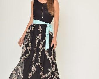Chiffon Sash Maxi Dress
