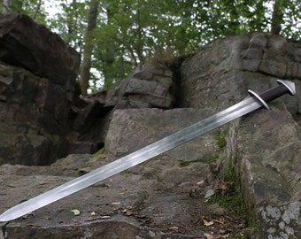 VIKING SWORD Geibig Typology Type V Carbon Steel Weapon Vikings Norse Replica Medieval Middle Ages Hand Made Warrior Steel Sca Hema Replica