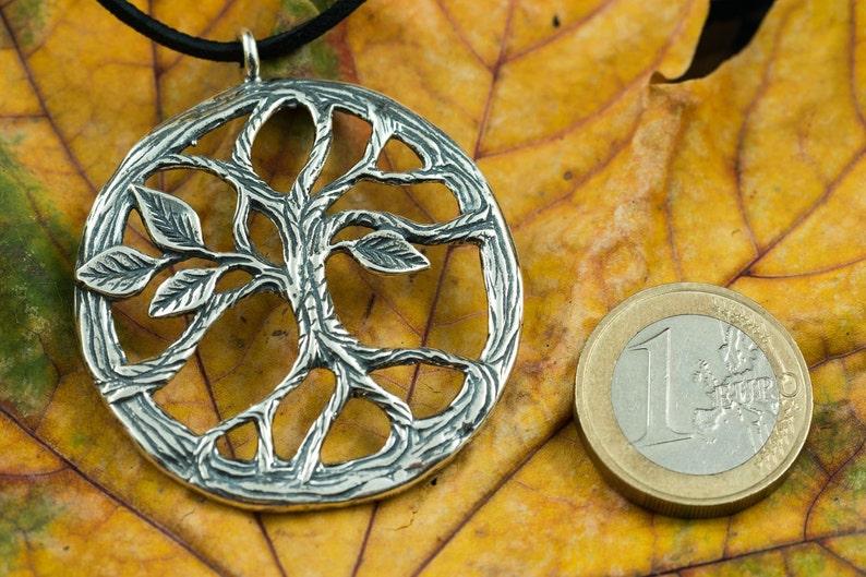 Yggdrasil viking levensboom arbor vitae zilveren ketting etsy