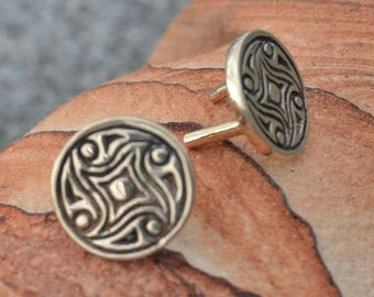 Viking Decorative RIVET from GOTLAND Sweden Bronze Concho Stud Vikings Pagan Norse Leathercraft Accessory Jewelry Belts Norse Museum Replica